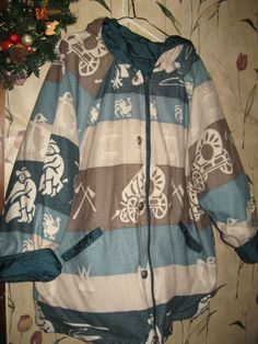 VINTAGE 80S Western theme all weather coat by Linsvintageboutique, $51.50