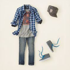 boy - outfits - skater style - glad for plaid   Children's Clothing   Kids Clothes   The Children's Place