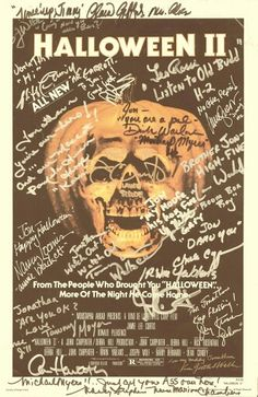 Halloween II ~ Cast Signature
