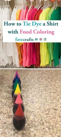 How to Tie Dye a Shirt with Food Coloring Easy Diy Tie Dye, How To Tie Dye, How To Dye Fabric, Dyeing Fabric, Diy Tie Dye Socks, Tie Dye Tips, Textile Dyeing, Food Coloring Tie Dye, Food Coloring Crafts