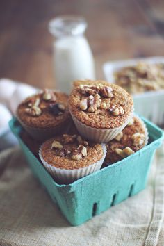 Morning Glory Protein Muffins by Dashing Dish. I have received many requests for a healthy version of a morning glory muffin! This recipe came out even better than I had planned, as they are rich, moist, and super flavorful…All with under 100 calories and 7 grams of satisfying protein per muffin, (and now flour, sugar or butter as always!) This muffin makes the perfect snack or breakfast, and are easily portable for the perfect whole grain protein rich treat! These muffins are guaranteed to…