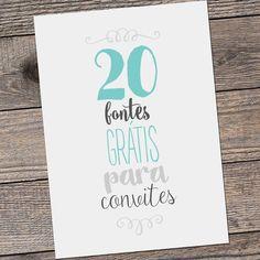 Vai casar? Compartilhamos com vocês 20 fontes para convite de casamento no nosso blog. Corre lá que elas são lindas e gratuitas!