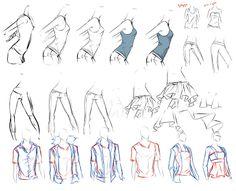 El Arte de Lovely-Lina: Ayuda para dibujar ropa
