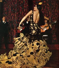 Flamenco dancer, 1969 http://www.pinterest.com/pin/473229873318182390/