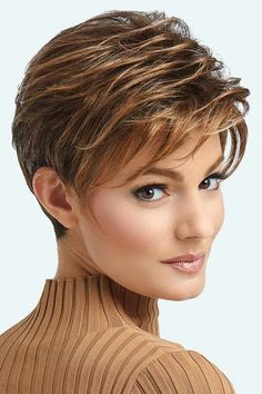 Advanced French Wig by Raquel Welch Wigs - Lace Front, Heat Friendly Synthetic Wig Perruque français Haircut For Older Women, Short Hair Cuts For Women, Short Hairstyles For Women, Wig Hairstyles, French Hairstyles, Short Haircuts, Evening Hairstyles, Hairdos, Hairstyle Ideas