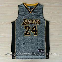 maillot nba pas cher Gris Los Angeles Lakers Bryant #24 Mode nouveaux tissu 22,99€