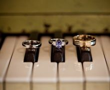 Captivating alternative indigo stone engagement rings