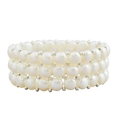 Layering Beaded Baroque Statement Pearl Bracelet