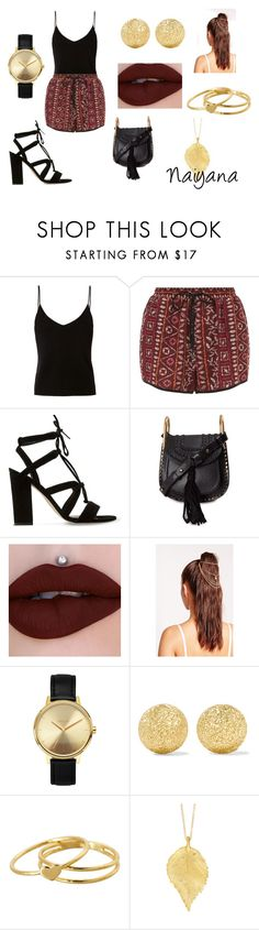 """""""Naiyana outfit"""" by puppiesrule ❤ liked on Polyvore featuring T By Alexander Wang, New Look, Dune, Chloé, Missguided, Nixon, Carolina Bucci, Gorjana and Chupi"""