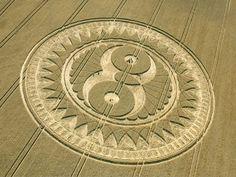 An owl ♥ it! Crop Circles, Circle Art, Circle Design, Wheel Of Life, Wheat Fields, Spiral Pattern, Land Art, Sacred Geometry, Planet Signs