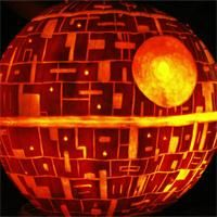 Death Star Pumpkin with instructions