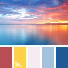 Color Combinations With Blue imagine the view of the sky before sunset over the sea. this