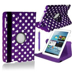 """360° ROTATING CASE FOR SAMSUNG GALAXY TAB 2 10.1"""" TABLET PU LEATHER COVER P5100 