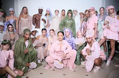 The full collection was made to feel spring fresh, with a focus on pumped-up pastels, ruffle detailing and ladylike corsets, while the styling tapped up late-90s and early-00s references
