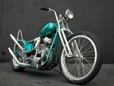#turquoise #panhead #springer #chopper #motorcycle #LetsGetWordy