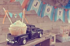 Vintage Truck Birthday Party Ideas | Photo 2 of 18 | Catch My Party