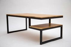Solid oak table with metal structure. Solid Oak Table, Solid Wood, Solid Oak Furniture, Oak Color, Metal Structure, Home And Living, Dining Bench, Wood Tables, Home Decor
