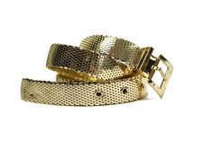 Vintage Whiting & Davis Gold Metal Mesh Belt. $80.00, via Etsy.