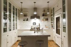 The kitchen shelves are very elegant. Different from the usual. A Designer's Serene Brooklyn Brownstone | Design*Sponge