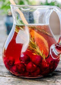 Cocktail Recipe: Sparkling Cherry Rosé Sangria