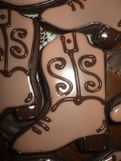 The Simple Cake: Cowboy Hat & Cowboy Boot Cookies