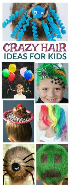 30 CRAZY HAIR IDEAS FOR KIDS- these are awesome!! My kids love crazy hair day! #crazyhairday #kidsactivities