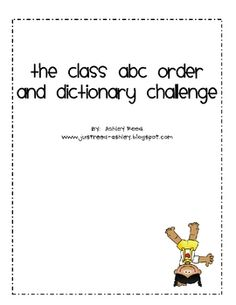 I created this engaging activity to review abc order and dictionary skills with my second grade students.  They thoroughly enjoyed it!  You may dow...   # Pinterest++ for iPad #