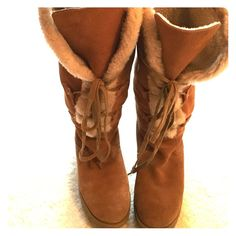 MICHAEL KORS SUEDE BOOTS Genuine MK boots / genuine suede Michael Kors Shoes Lace Up Boots