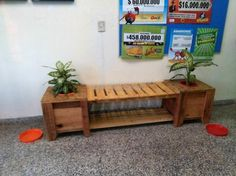 People place the planters on the both sides of the bench to decorate the area, but here is a unique idea by Monica Godoy in which the bench and the planter are both combined. It is a good idea to enhance the look of the area where it is placed.
