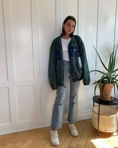 Jean Jacket outfits – Page 2920975046 – Lady Dress Designs Mode Outfits, Retro Outfits, Trendy Outfits, Winter Outfits, Vintage Outfits, Vintage Fashion, Fashion Outfits, School Outfits, Fashion Tips
