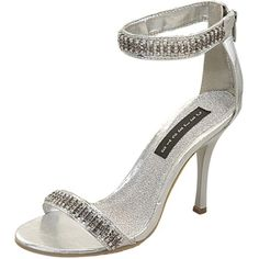 Save 10% + Free Shipping Offer * | Coupon Code: Pinterest10 Material: Man Made Material. 4.25 inches, Fahreneit Shoes True to size, Sexy Evening Shoes Product Code:Mian-01 Silver Women's Celeste Mian-01 Silver Rhinestone Ankle Strap Evening Sandals