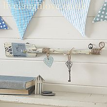Rustic Paddle Wall Hooks-Blue