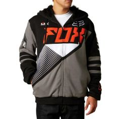 2013 Fox Racer Sasquatch Zip Hoody - 2X-Large Three piece hood. Metal allen key inspired aglets and eyelets. Perforated zipper pull. 80% Cotton, 20% Polyester fleece. 280gm. 100% Polyester Sasquatch Faux fur lining. #FoxRacing #AutomotivePartsAndAccessories