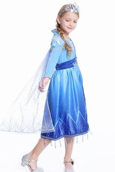 2019 Frozen 2 Elsa dress for girls kids toddlers Frozen 2 Elsa Dress, Princess Elsa Dress, New Dress, Dress Up, Blue Dresses, Girls Dresses, 10 Year Old Girl, Frozen Costume, Costume Dress