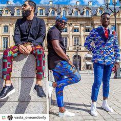 #GPRepost#reposter#notetag @vasta_oneandonly via @GPRepostApp ======> Great Style  #inspiration #modern #africa #print #mensfashion #stylish