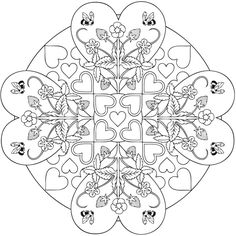 Mandala Heart Mandalas Coloring Book, Dover Publications by zelma Heart Coloring Pages, Pattern Coloring Pages, Mandala Coloring Pages, Colouring Pages, Printable Coloring Pages, Adult Coloring Pages, Free Coloring, Coloring Sheets, Coloring Books