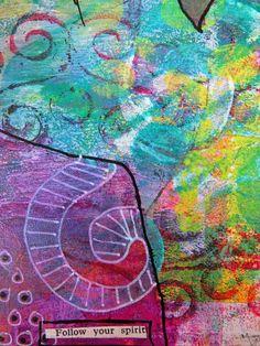 Gelli printing by award winning mixed media artist Frieda Oxenham