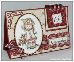 Mariannes papirverden.: Julekalender - Bildmålerna