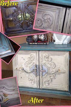 Before / After chalk paint end table