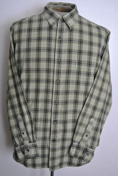 St Johns Bay XL Shirt Mens Multi-Color Plaid Button-Down Cotton Long Sleeve  #StJohnsBay free shipping auction starting at$10.99
