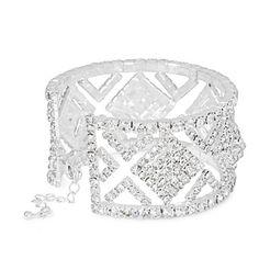 Diamante crystal square cutout cuff - Bracelets - Jewellery - Women - Dream Prom, Jewelry Bracelets, Jewellery, Debenhams, Women Jewelry, Engagement Rings, Crystals, Silver, Enagement Rings