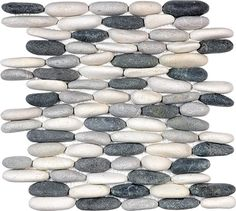 DIVINE PEBBLES - TRANQUIL COOL BLEND STACKED / 12X12 / STACKED