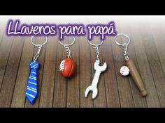 Llaveros para Papá de Pasta Francesa, Cold porcelain keychains for dad