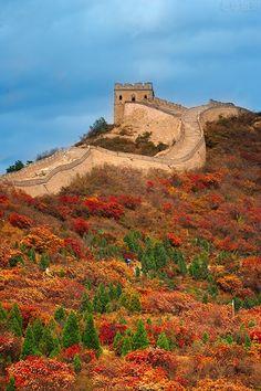 Grande Muraille de Chine à l'automne