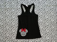 Disney Inspired Chevron Minnie with Sparkly Glitter Bow Perfect For any Summer Trip To Disneyland on Etsy, $17.00