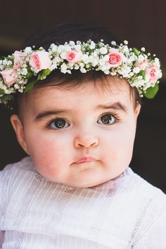 baby flower crown- I just made one for Luz have to do another so cute!