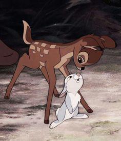 Bambi and Thumper, Disney Disney Magic, Disney Pixar, Walt Disney, Disney Animation, Disney E Dreamworks, Disney Amor, Cute Disney, Disney Cartoons, Disney Movies