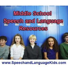 Are you a speech therapist or parent of a middle schooler with speech/language problems? If so, you've come to the right place! Check out my fantastic speech therapy resources for children in middle school.      Middle School Communication Skills: So what communication skills are needed for children in middle school?