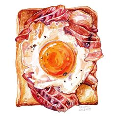 Food Png, A Food, Food Painting, Fabric Painting, Cute Food, Yummy Food, Dessert Illustration, Watercolor Food, Watercolour