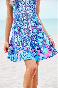 Lilly Pulitzer Melia Dress in Multi Sea Jewels Engineered